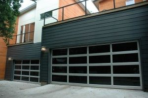 contemporary style glass garage door kansas city mo